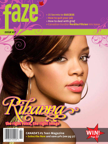 Rihanna on cover of Faze Magazine