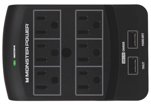 Monster 6-Outlet Surge Protector