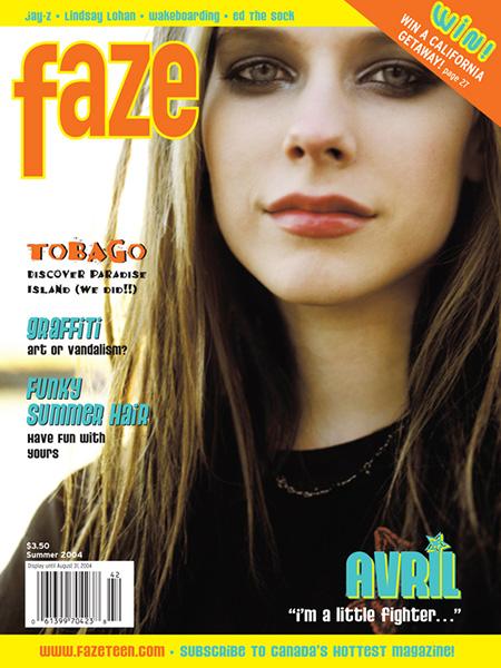 Avril Lavigne on the cover of Faze Magazine