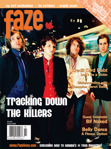The Killers on the cover of Faze Magazine