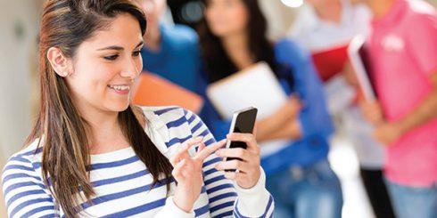 School Girl on Cellphone