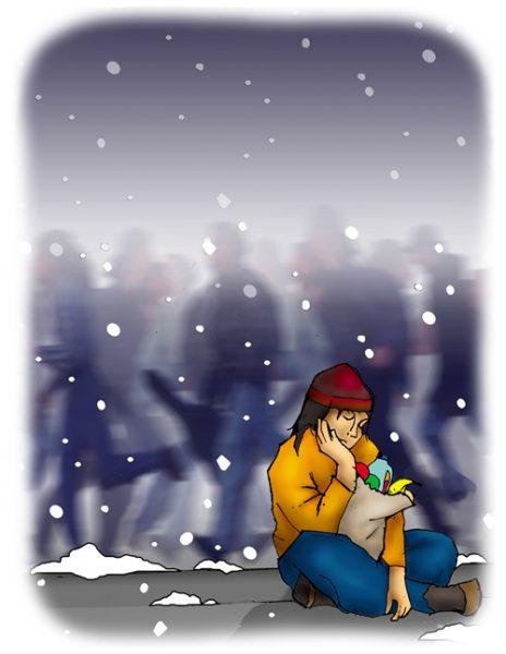 SAD winter illustration