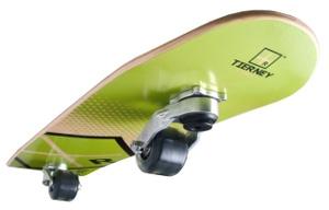 Tierney Rides Skateboard