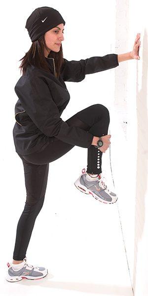Model Maya Chendke - Nike Cold Weather Running - Stretching