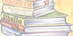 English Literature stack of books