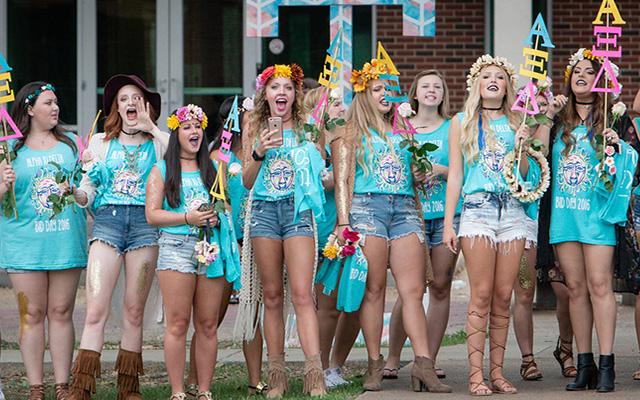 sorority girls students college