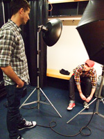 Jesse Giddings at Faze Hedley photoshoot